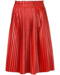 we11done - Pleated Skirt - Lyst