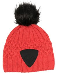 Rossignol Cable Knit Beanie - Red