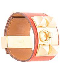 Hermès 'Collier De Chien' Lederarmband - Rot