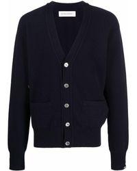 Extreme Cashmere Drop Shoulder Cardigan - Blue