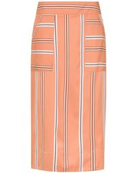 Olympiah - Striped Piaggia Midi Skirt - Lyst