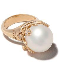 Pasquale Bruni 18kt Rose Gold Sissi Pearl Diamond Ring - Metallic