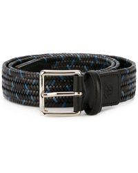 Canali Woven belt - Blu