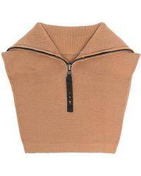 Reebok X Victoria Beckham Zip-up Wool-blend Neck Warmer - Multicolour