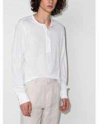 Ermenegildo Zegna Henley ロングtシャツ - ホワイト