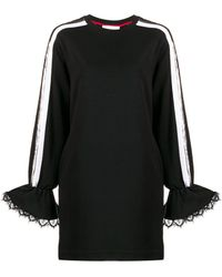 NO KA 'OI Appliqué Detail Jersey Dress - Black