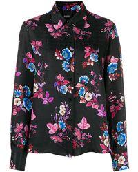 Pinko Camicia a fiori - Nero