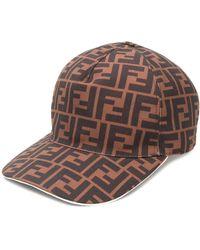 Fendi Logo Baseball Cap - Brown