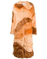 House Of Sunny Faux Fur Coat - Orange