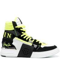 Philipp Plein Phantom Kick$ ハイカット スニーカー - ブラック