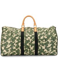 Louis Vuitton X Takashi Murakami 2008 Pre-owned Keepall Bandouliere 55 - Black