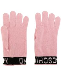 Moschino - Inverted Logo Gloves - Lyst