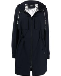 Karl Lagerfeld ロゴ パーカーコート - ブルー