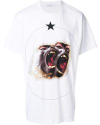 Givenchy Columbian-fit Monkey Brothers Printed T-shirt - White