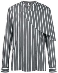 Chalayan - Half Cape Striped Shirt - Lyst