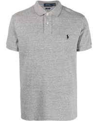 Polo Ralph Lauren - Embroidered-logo Short-sleeved Polo Shirt - Lyst