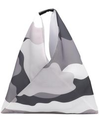 MM6 by Maison Martin Margiela Padded Mesh Japanese Tote Bag Grey Camo - Gray