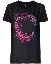 Class Roberto Cavalli - Graphic Print T-shirt - Lyst