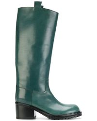 Lyst - A.F.Vandevorst Textured Matte Nappa Leather Boots in Black e5bc44d91b9