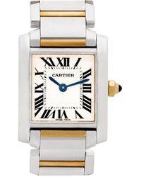 Cartier 2010 タンク フランセーズ 25mm - ホワイト