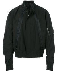 D.GNAK - Satin Trim Padded Jacket - Lyst