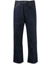 Chimala Wide Leg Crop Jeans - Blue