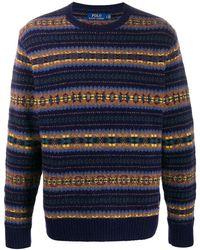 Polo Ralph Lauren Pullover mit Fair-Isle-Muster - Blau