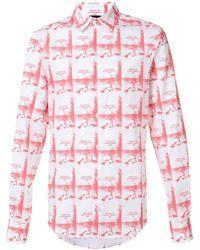 Hood By Air Hemd mit Prints - Schwarz