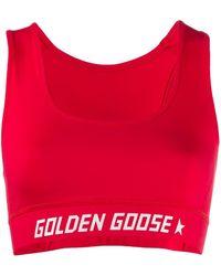 Golden Goose Deluxe Brand ロゴ スポーツブラ - レッド