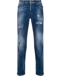 Dondup Distressed Slim-fit Jeans - Blue