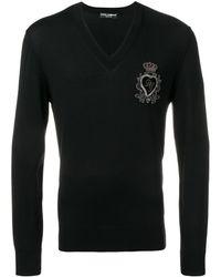 Dolce & Gabbana Vネックセーター - ブラック