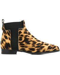 Tod's Bottines à motif léopard - Marron