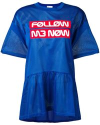RED Valentino Follow Me Now Mesh Top - Blue