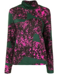 Colville Panelled Print Sweatshirt - Green