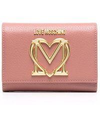 Love Moschino Бумажник С Логотипом - Розовый
