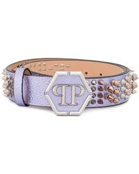 Philipp Plein - Spike-embellished Leather Belt - Lyst