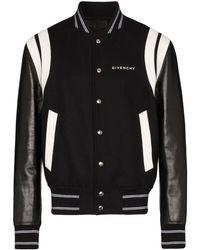 Givenchy Veste bomber en cuir - Noir