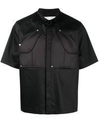 1017 ALYX 9SM Рубашка С Короткими Рукавами И Накладными Карманами - Черный