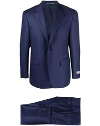 Canali Tailored Slim-fit Suit - ブルー