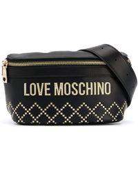 Love Moschino - スタッズ ベルトバッグ - Lyst