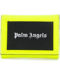 Palm Angels Logo Print Foldover Wallet - Yellow