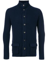 Dell'Oglio - Front Pocket Cardigan - Lyst