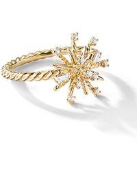 David Yurman Ring Met Diamanten Sterren - Metallic