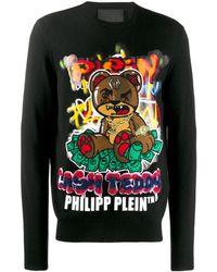 Philipp Plein Pull Teddy Bear - Noir