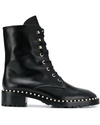 Stuart Weitzman - Embellished Military Boots - Lyst