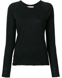 Nili Lotan Longsleeved Fitted T-shirt - Черный