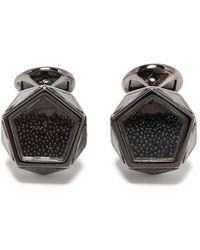 Tateossian Запонки Caviar 30-year Anniversary - Черный
