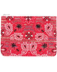 Coohem Knit Tweed Bandana Pouch - Red