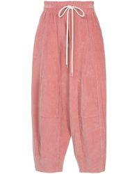 Bassike Pantalones con cuerda a la cintura - Rosa