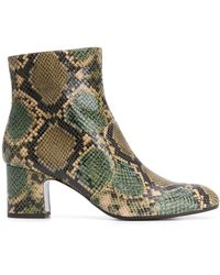 Chie Mihara 65mm Snakeskin Effect Boots - Green